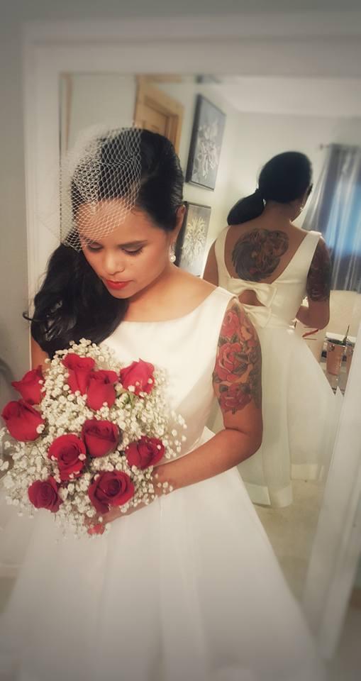 Custom Retro Wedding Dress
